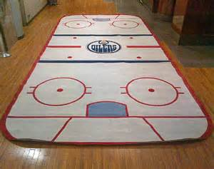 hockey rug edmonton oilers locker room hockey rink carpet from