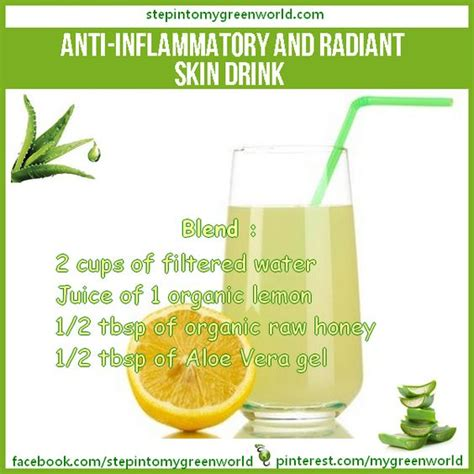 Inflammation Detox Drink by Radiant Skin Aloe Vera And Drinks On