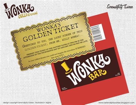 willy wonka invitations templates willy wonka chocolate bar wrapper and golden ticket