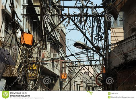 best electric wires for home in india eclectic backstreets delhi india stock photo