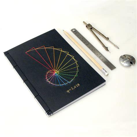 Putri S Journal Notebook Custom A5 golden ratio journal geometry notebook embroidered notebook