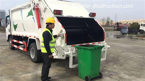 japanese isuzu garbage truck  sale rear loader