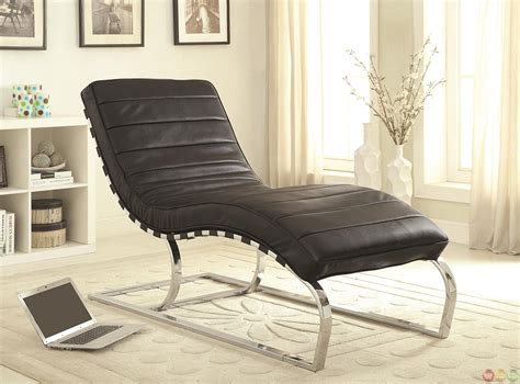 black leather chaise lounge chair black faux leather upholstery chaise lounge accent chair
