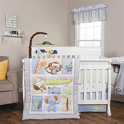 jungle nursery bedding sets trend lab 174 jungle animal crib bedding collection buybuy baby