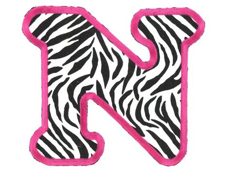 free printable zebra letters printable pink zebra print letters google search sassy