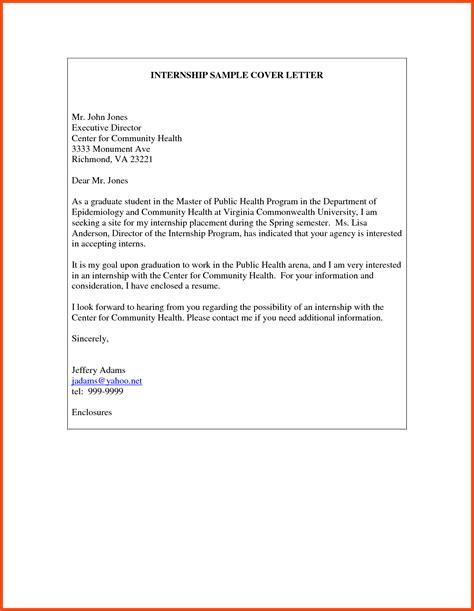 cover letter exles graduate internship internship letter program format