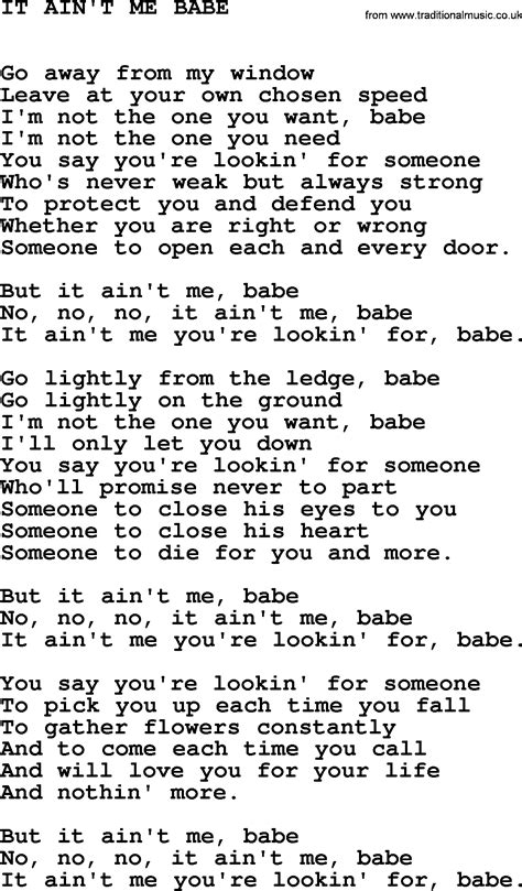 download mp3 free it ain t me johnny cash song it ain t me babe lyrics