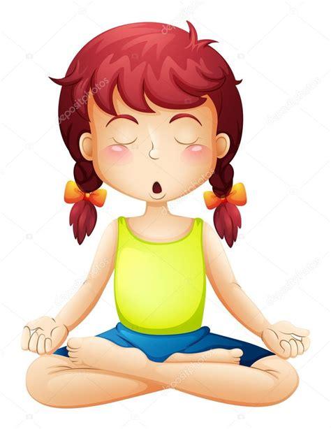 imagenes haciendo yoga una ni 241 a haciendo yoga vector de stock 169 interactimages