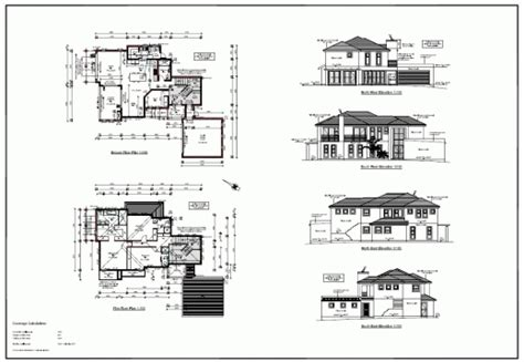 residential floor plans and elevations two storey residential house floor plan with elevation