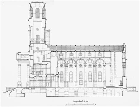 Plate 20 Christ Church Longitudinal Section British