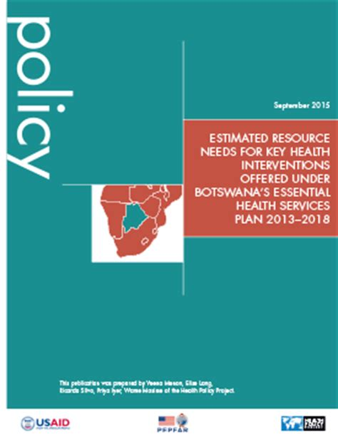essentials of health policy and includes the 2018 annual health reform update estimated resource needs for key health interventions