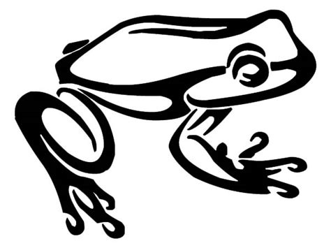 untold grafix tribal frog clipart best clipart best