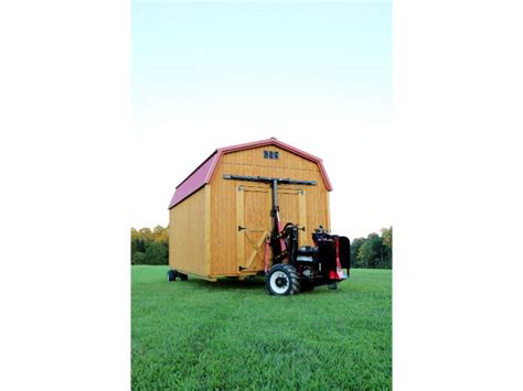 mule  shed mover includes  set dolly wheels shed