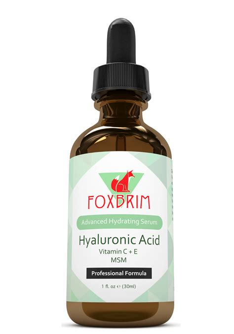Serum The foxbrim hyaluronic acid serum never say die