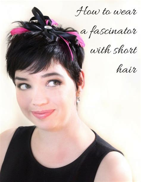 How to wear a fascinator with short hair   Salon Perfect