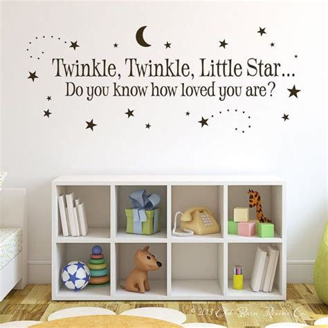 Wall Decal Quotes For Nursery Twinkle Twinkle Twinkle Twinkle And On Pinterest