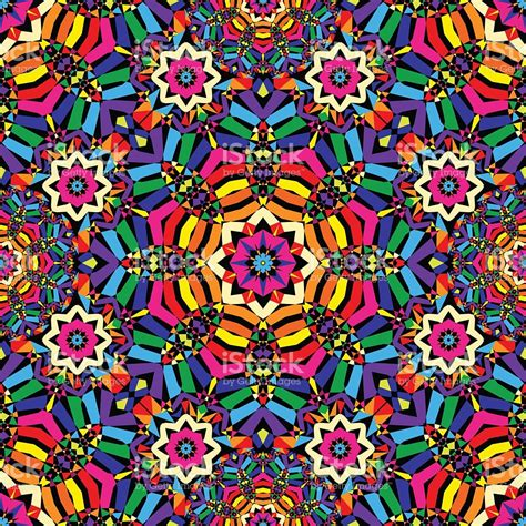 kaleidoscope pattern video bright circular seamless kaleidoscope pattern stock vector