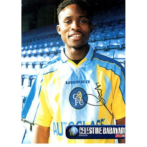 signed picture of celestine babayaro the chelsea footballer