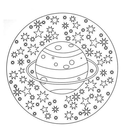 space mandala coloring pages free coloring page free mandala to color planet