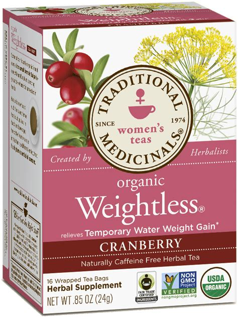 Traditional Medicinals Everyday Detox Tea Weight Loss by Weightless 174 Cranberry Traditional Medicinals