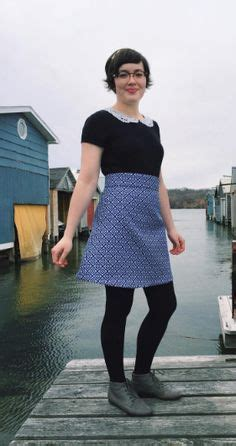 Dress Cestora Scuba colette seamwork astoria top in a blue scuba my maxi by dress patterns