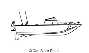 big boat outline clipart fishing boat 101 clip art