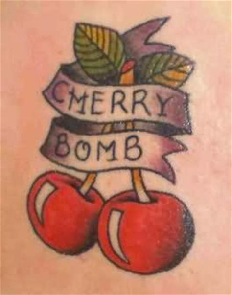 cherry bomb tattoo cherry bomb cherry