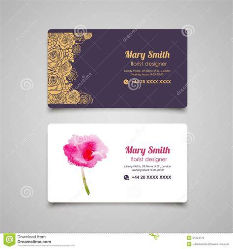 flower design name card florist business card vector design templates set 51594779