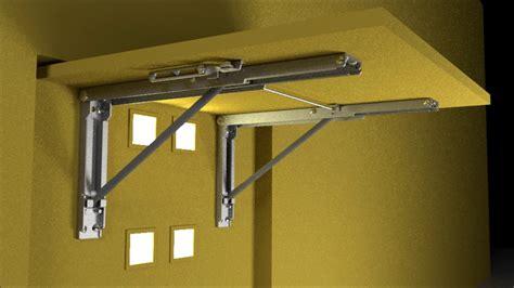 fold down desk hinges wall mounted folding brackets by eureka mfg youtube