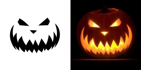 evil pumpkin template 5 best scary pumpkin carving stencils 2013