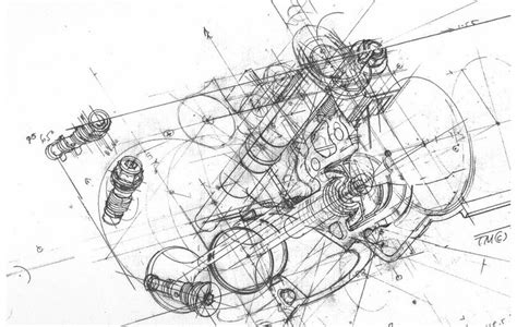 Engine Drawing Drawings Engine