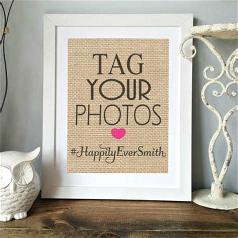 Wedding Anniversary Hashtags by Personalized Wedding Gift Custom Burlap From