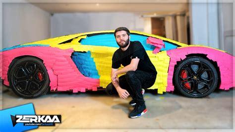 Ksi S Lamborghini by Wrapping Ksi S Lamborghini In Sticky Notes Prank Youtube