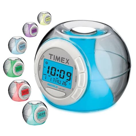 Apple Nature Sound Color Change Clock timex color changing alarm clock w nature sounds thermometer yugster