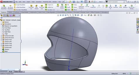 helmet design solidworks tutorial modeling helmet in solidworks grabcad