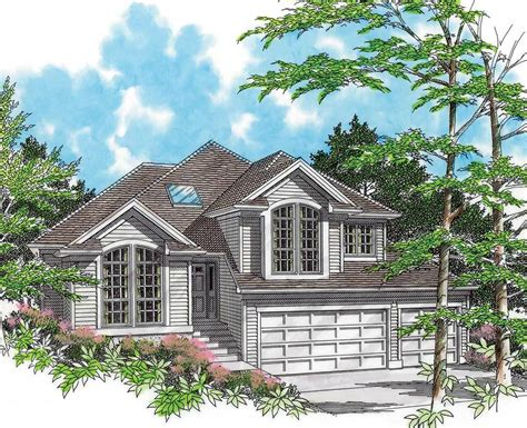 sloping house plans for a side sloping lot 6878am architectural designs house plans