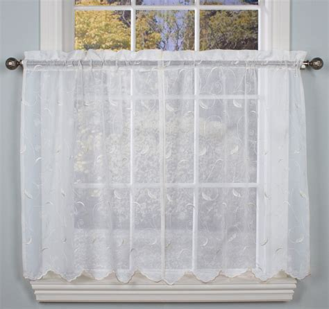 hathaway curtains hathaway embroidered semi sheer tailored tier curtains