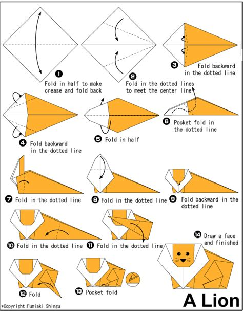 Origami Diagrams Animals - animals origami paper origami guide