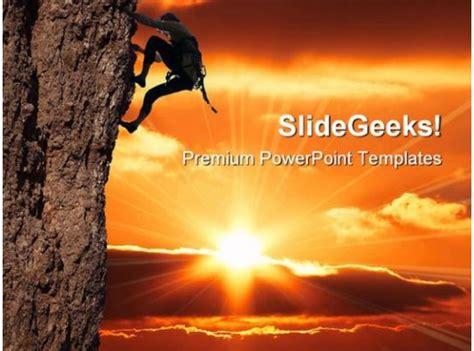 girl climbing success powerpoint templates  powerpoint