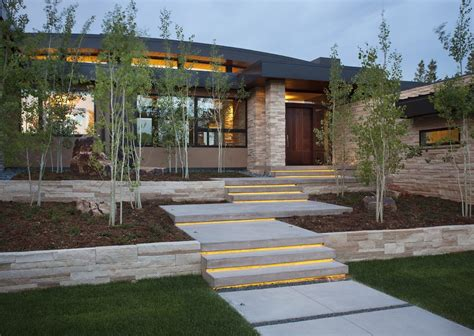 Landscape lighting ideas exterior contemporary with lights under stairs led step lighting