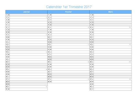 Calendrier 2016 Vierge Semestriel Calendrier Trimestriel Vierge