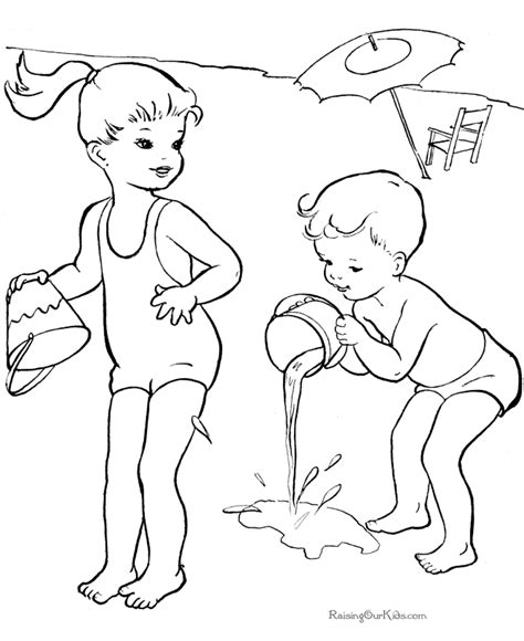 printable summer coloring sheet 030