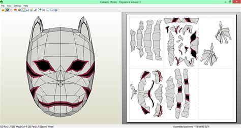 Kakashi Anbu Mask Papercraft - kakashi anbu mask papercraft by sibor270898 on