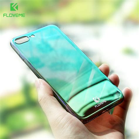 Glasses Hardcase For Iphone 5 5s Only floveme luxury pc glass for iphone 5 5s se for iphone 6 6s plus cases for iphone 7 7