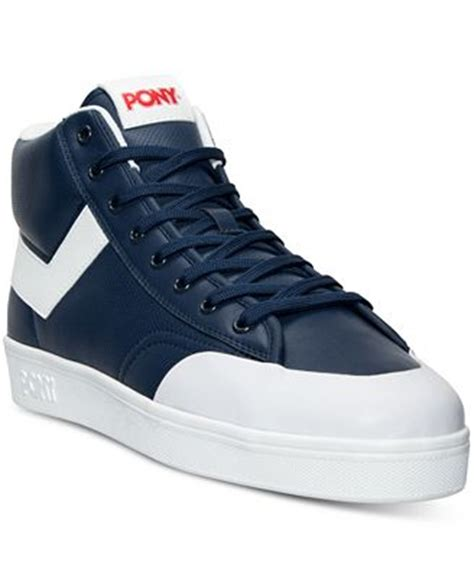 pony mens athletic shoes pony s vintage slam dunk hi stadium casual sneakers