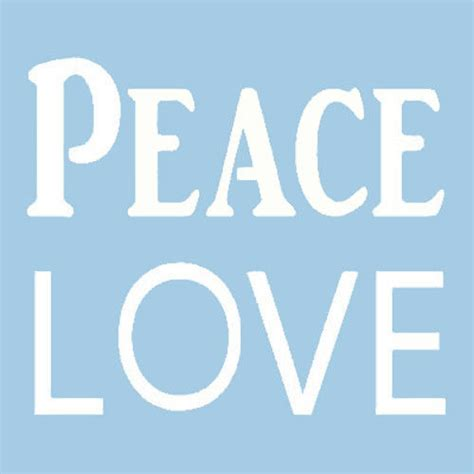 new pattern words peace love stencil word words craft stencils template