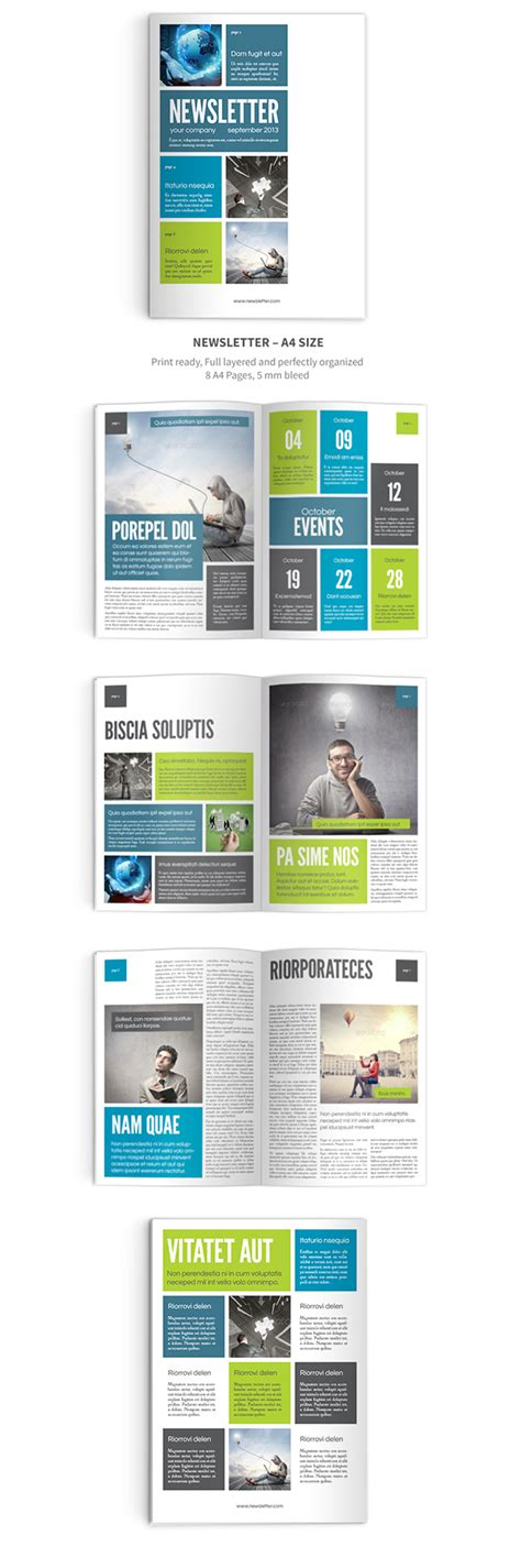 Newsletter Indesign Template On Behance Indesign Email Newsletter Templates