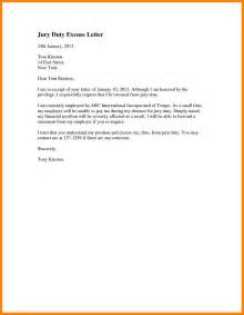 Jury Service Excuse Letter From Employer 8 Excuse Letter Format Coaching Resume