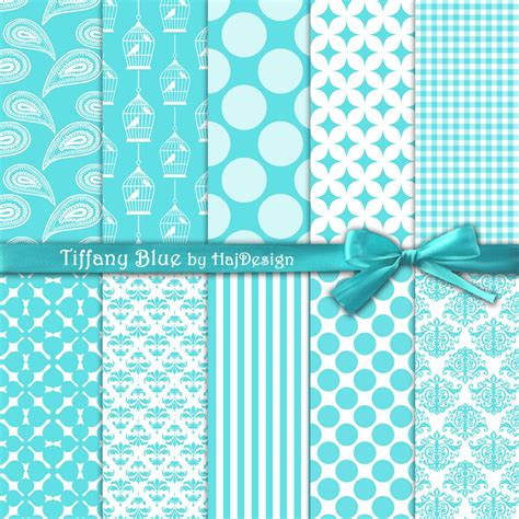 Tiffiny Blue Wedding Invitation Paper by Blue Collection Digital Collage Sheet Digital