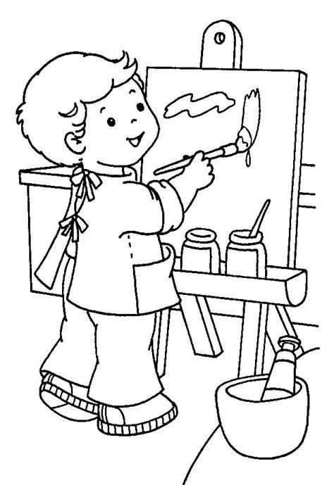 imagenes infantiles escolares a color dibujos para colorear de materiales escolares
